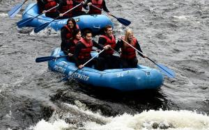 Whitewater Rafting with Wharton!