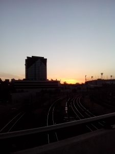 The sunrise over the MCG !