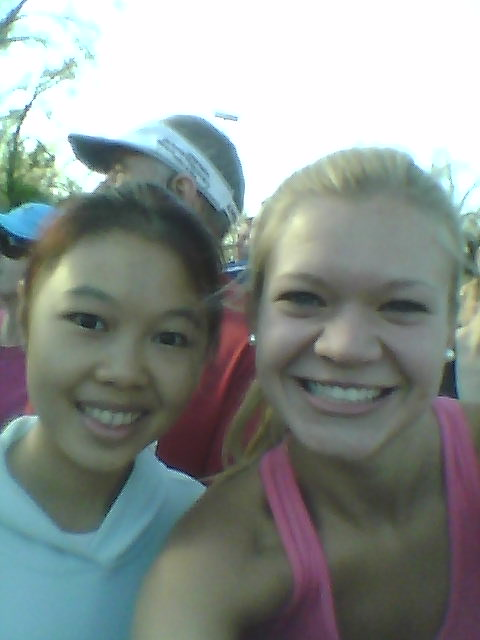 Cause every runner knows you can't run a race without a pre-race, in corral selfie...