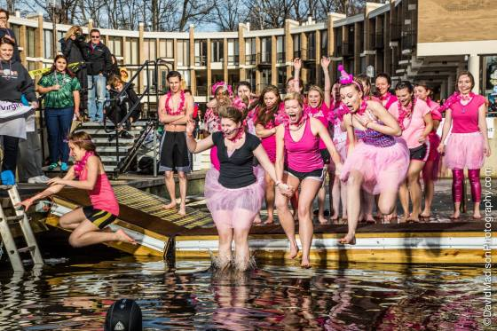 I jumped into a freezing lake that had 5 inches of ice chainsawed off it that morning for a great cause! The Virginia Polar Dip