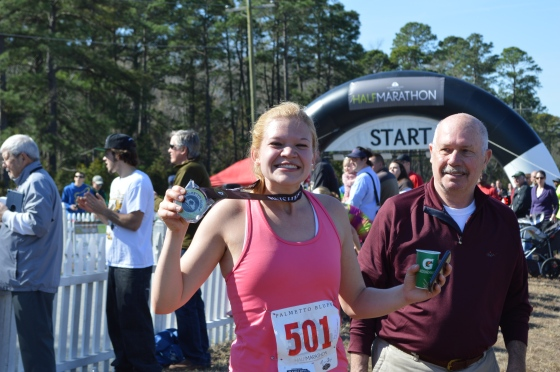 I got my Half PR at the Palmetto Bluff Half Marathon in SC!!!