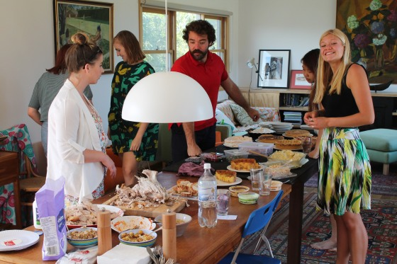 As a last hurrah in Melbourne we hosted an American style Thanksgiving for the Aussies