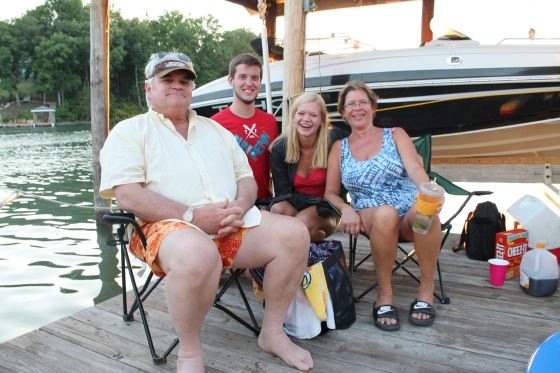 I celebrated the Fourth of July on the boat with mommy and the boys!