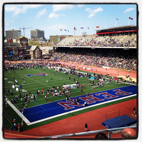 I watched super fast future Olympians at the Penn Relays