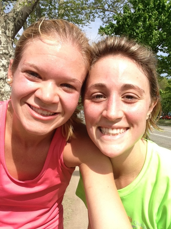 I finally got a picture with my favorite running buddy!!! She is AWESOME!