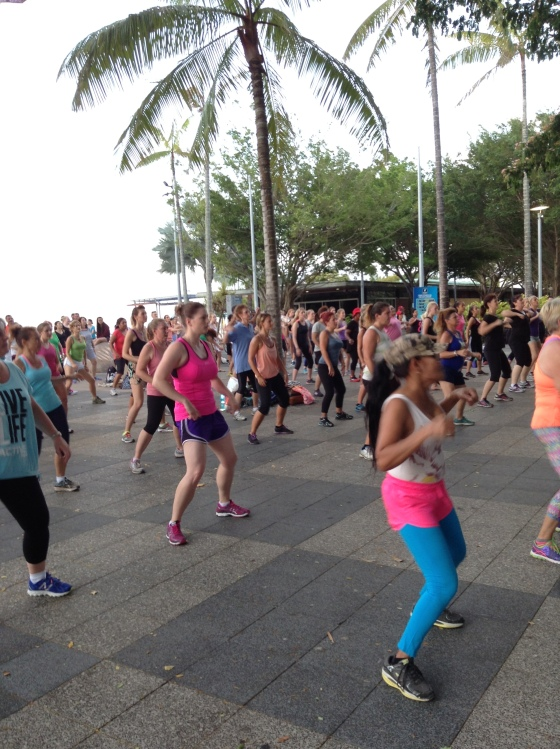I did Zumba in the public square