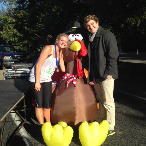 I ran a really fun and super fast first 10k on Thanksgiving Morning!