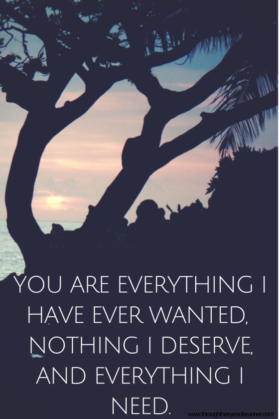 You are everything I have ever wanted,