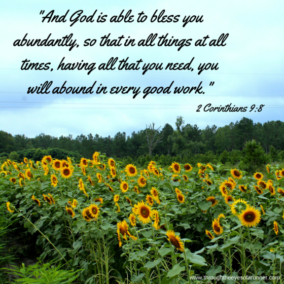 And God is able to bless you abundantly,