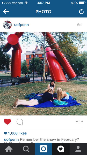 And last but not least, I got famous on the UPenn Instagram!