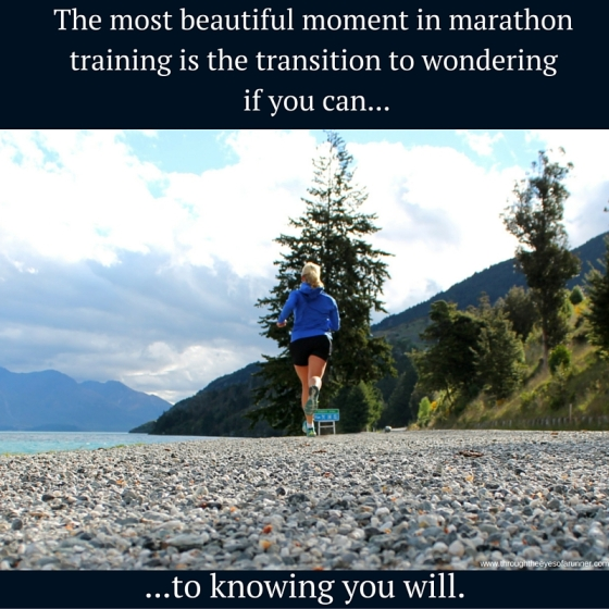 The beautiful moment in marathon training